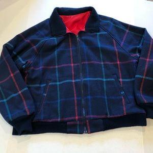 LOBO PENDLETON reversible plaid/red jacket